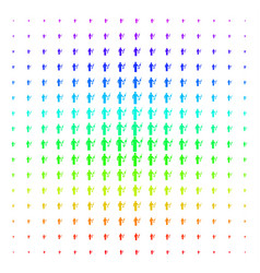 Medic icon halftone spectrum pattern vector