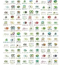 Mega set infinity and loop business logos vector