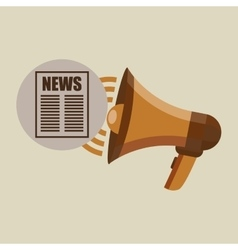 megaphone concept news template design vector image
