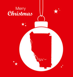 merry christmas theme with map of buffalo new york vector image