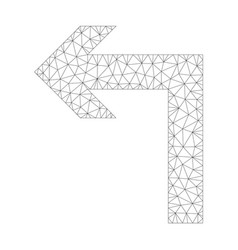 Mesh turn left icon vector