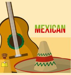 mexican culture cartoons vector image