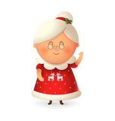 mrs claus - wife santa claus vector image