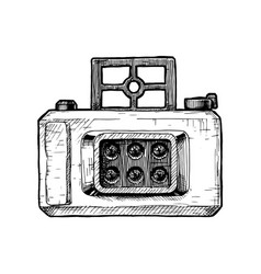 multi-lenses camera vector image