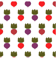 pattern with colored beets vector image