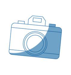 Photo camera device picture lens flash icon vector