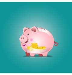 Piggy bank icon with blank vector