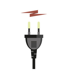 plug and energy icon vector image