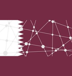 Qatar flag concept vector