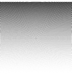 radial halftone black background pattern vector image