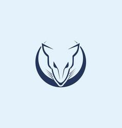 Rat logo mascot template vector