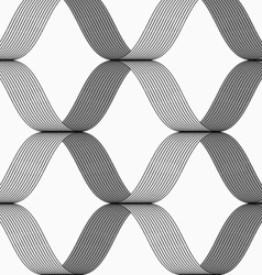 Ribbons forming grid pattern vector
