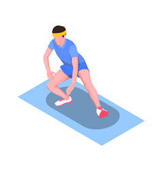 Runner stretching icon vector