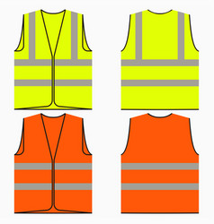 safety vest vector image