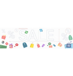 sale banner black friday discounts with gift boxes vector image