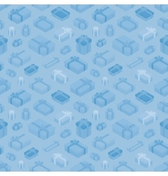 Seamless pattern with the isometric gift boxes vector image
