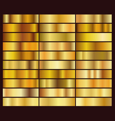 set 30 unique gold gradient backgrounds vector image