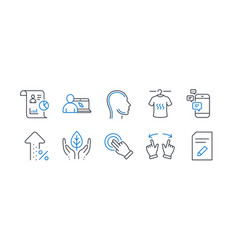 Set business icons such as dry t-shirt head vector