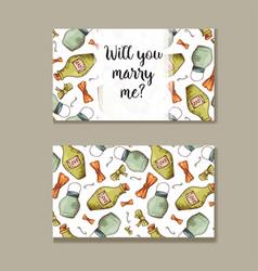 Set of wedding invitations wedding cards template vector