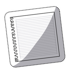 silhouette notebook school icon vector image