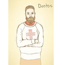 Sketch doctor in Mafia board game vector image