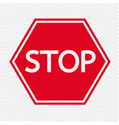 stop sign icon vector image