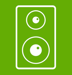 Subwoofer icon green vector