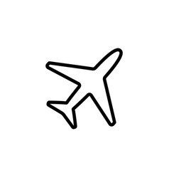 Thin line plane icon vector