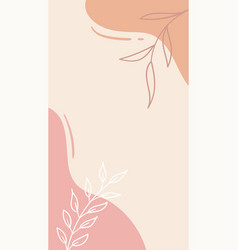 trendy abstract floral background for social media vector image