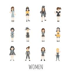 Women set eps10 format vector