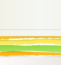 Backgrounds of divided color paper vector image