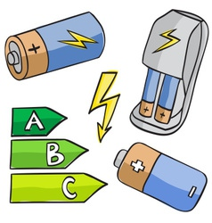 Batteries and energetic classes vector
