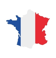 france map isolated icon vector image
