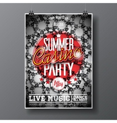 Party Flyer design on a Casino theme with chips vector image vector image