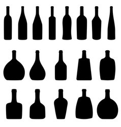 set of bottles vector image vector image