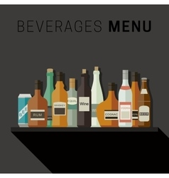 Alcoholic drinks menu vector image