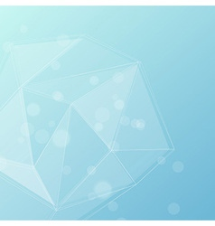 Blue crystal structure editable background vector image