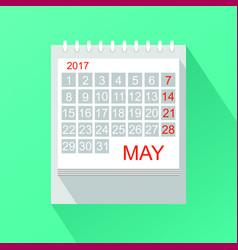 calendar in flat style vector image