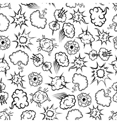 Comics explosion speech bubbles seamless pattern vector image