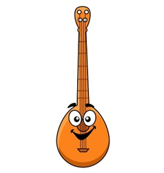 Fun cartoon banjo with a happy smiling face vector image vector image