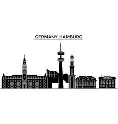 Germany hamburg architecture city skyline vector