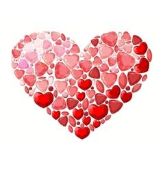 Jevel heart vector image vector image