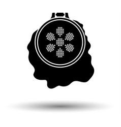 sewing hoop icon vector image vector image