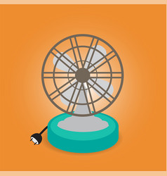 ancient fan vector image vector image