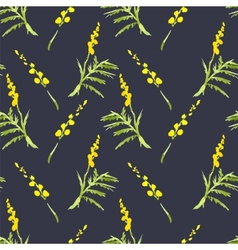 Sprig Mimosa Spring Watercolor Background vector image