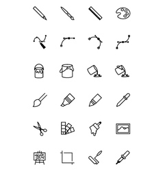 Art Design and Development Icons 1 vector image vector image