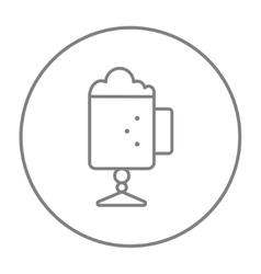 Glass mug with foam line icon vector image vector image