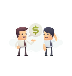 inability to pay debt vector image vector image