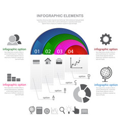 infographic elements and icons vector image