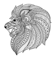 Lion king coloring vector image vector image